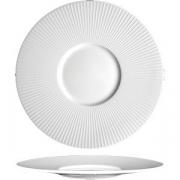 Тарелка мелкая с широк. бортом «Уиллоу» D=28.5см; белый