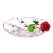 Ваза для фруктов хрустальная Красные розы