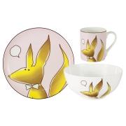 Набор из 3-х предметов Лисёнок: кружка, тарелка, миска