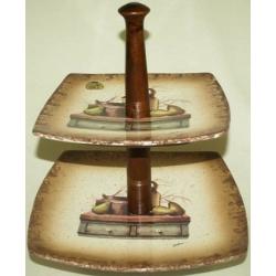 Двухъярусная ваза для фруктов «Кухня»