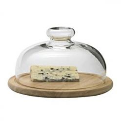 Поднос для сыра дерев. со стекл. крышк.