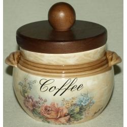 Банка для сыпучих продуктов с деревянной крышкой (кофе) «Элианто» 0,5 л