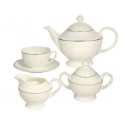 Сервиз чайный, 6 перс, 15 пр, Жемчужина-платинум