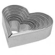 Набор резаков «Сердце» D=4-13.8см [8шт]; металл