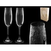 Бокал для шампанского«Эсприт«,«Невидимое травление«, упаковка 2 шт.
