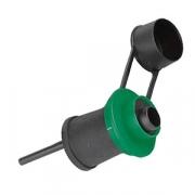 Насадка для разлива вина; пластик; D=45,H=110мм; зелен.