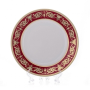 Набор тарелок «Александрия Красная/зол. « 21 см. 6 шт.
