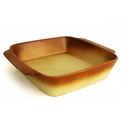 Блюдо квадратное с ручками «Терракота» 28,5х28,5 см