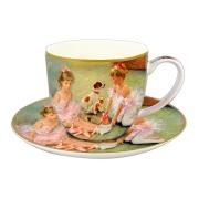 Чашка с блюдцем Балерины на отдыхе в подарочной упаковке