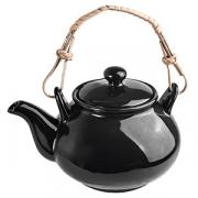 Чайник «Кунстверк», фарфор, 600мл, D=75,H=100,L=155мм, черный