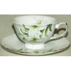 Чашка с блюдцем «Лилия» 0.2 л