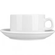Пара чайная «Коллаж» фарфор; 250мл; белый