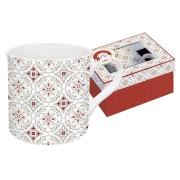 Кружка Цветовая палитра (красная, узор) в подарочной упак.