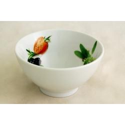 Салатник круглый «Помидоры и оливки» 14 см