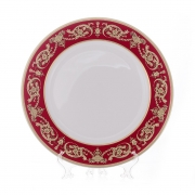 Блюдо круглое 32 см. «Александрия Красная/зол «
