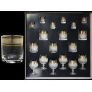 Набор 18 предм .6(стопка 60 мл+ стак.для виски 280 мл+ бренди 300) Лабиринт