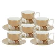 Чайный набор Лунная соната Голд: 6 чашек + 6 блюдец