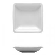 Тарелка глуб.квадр. «Лайк», фарфор, L=19.5,B=19.5см, белый