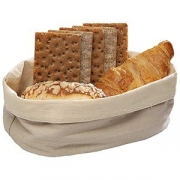 Корзина для хлеба овал. парусина; H=7,L=20,B=15см