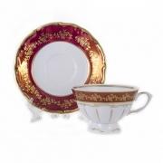 Набор для чая на 6 перс. 12 пред. «Барокко Красный»
