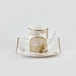 Набор 6 кофейных пар 100мл «Райский сад»