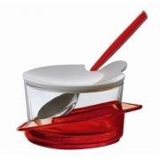 Сахарница с ложкой Casa Bugatti Glamour  (красный)
