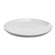 Блюдце «Перла», фарфор, D=15см, белый