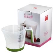 Весы кухонные цифровые 230х140х145 мм с чашей зеленые