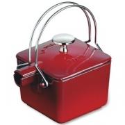 Чайник чугунный 0,5 л, цвет красный