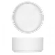 Тарелочка для масла, фарфор, 110мл, D=76,H=36мм, белый