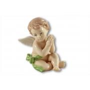 Статуэтка Ангелочек (в зелёном) 10 см.