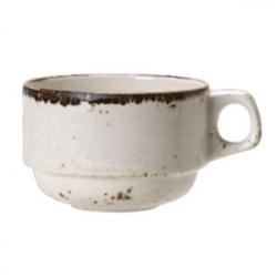 Чашка кофейная «Крафт»; фарфор; 100мл; белый