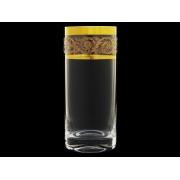 Стакан для воды Золотая коллекция, богатое золото (набор 6 шт.)