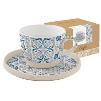 Чашка с блюдцем (синяя) CASADECOR в инд.упаковке