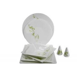 Сервиз обеденный зеленый узор на 6 персон 23 предмета