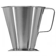 Мерный стакан; сталь нерж.; 1.5л; D=15.5/18.5,H=16.5см; металлич.