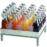 Подставка для бутылок + 20бутылок