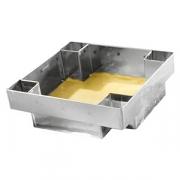 Резак для квадр.пирога; сталь нерж.; H=75,L=107мм