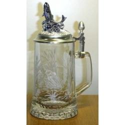 Пивная кружка стеклянная «Форель»