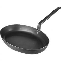 Сковорода овал. для рыбы 36*27см гол. сталь
