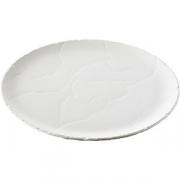 Блюдо для пиццы «Базальт» D=32, H=1.5см; белый
