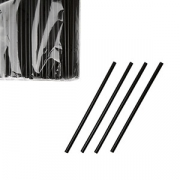 Трубочки черные d=5мм,12.5см,100шт