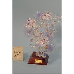 Бонсай с хризантемами лиловый, 22см.