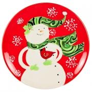 Набор тарелок десертных 21,5см «Снеговик»