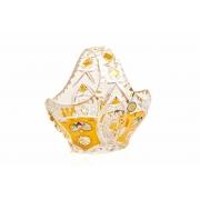Корзина «Хрусталь с золотом 96027» 12 см.