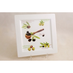 Блюдо квадратное «Оливки» 24 см