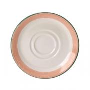 Блюдце «Рио Пинк», фарфор, D=16.5см, белый,розов.