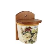 Банка для сыпучих продуктов (соль) Роза и малина