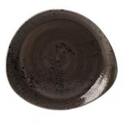 Тарелка мелкая «Крафт», фарфор, H=37,L=300,B=275мм, серый