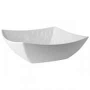 Салатник квадр.; пластик; 3.3л; H=10,L=30.5,B=30.5см; белый